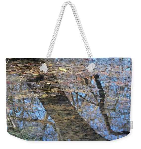 Weekender Tote Bag featuring the photograph Reflections I by Ron Cline