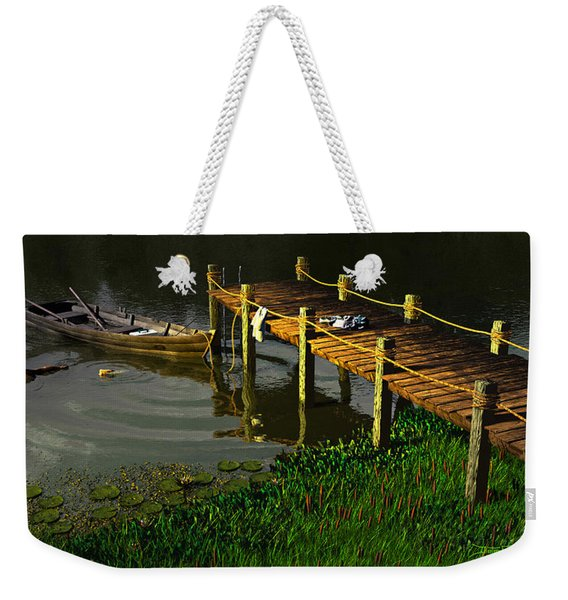 Reflections In A Restless Pond Weekender Tote Bag