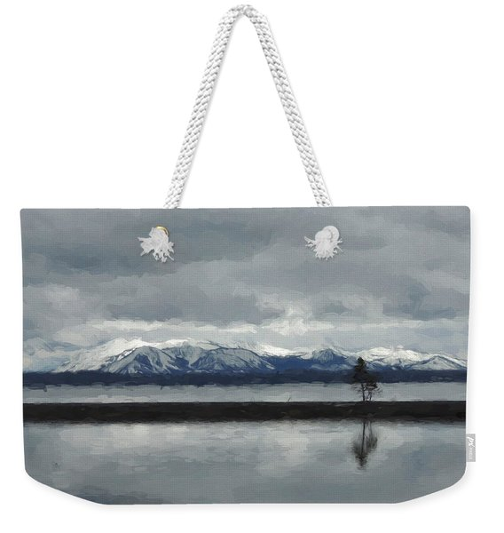 Reflections In Lake Yellowstone Weekender Tote Bag