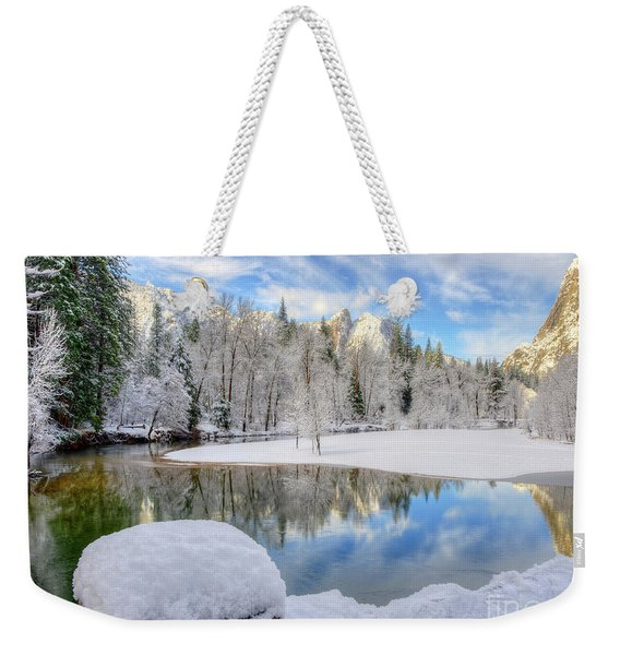 Reflections In The Merced River Yosemite National Park Weekender Tote Bag