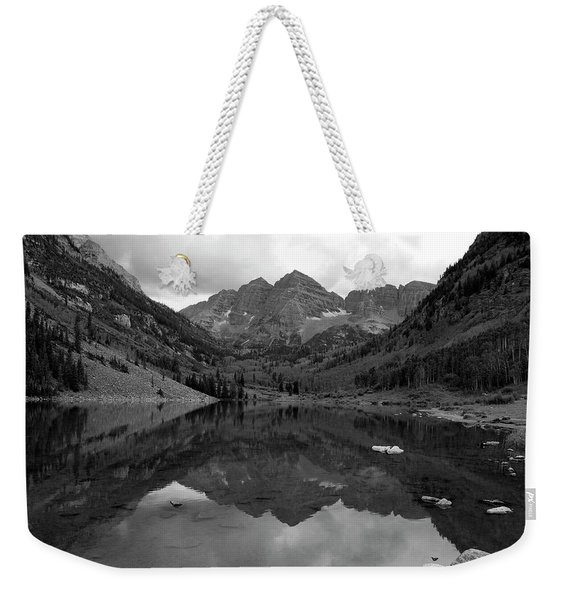 Reflections Of Maroon Bells Weekender Tote Bag