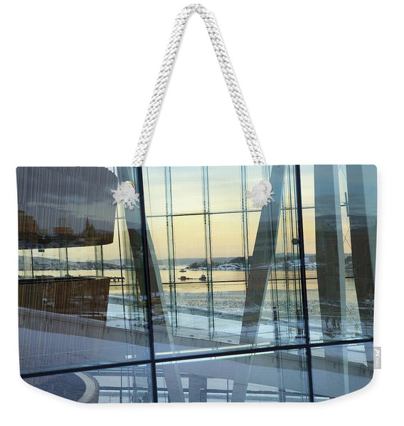 Reflections Of Oslo Weekender Tote Bag