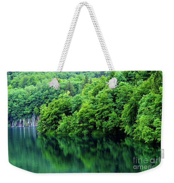 Reflections Of Plitvice, Plitvice Lakes National Park, Croatia Weekender Tote Bag