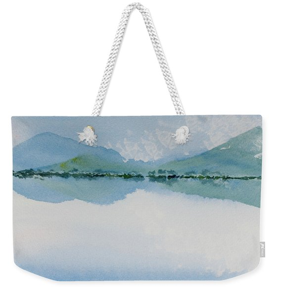 Reflections Of The Skies And Mountains Surrounding Bathurst Harbour Weekender Tote Bag