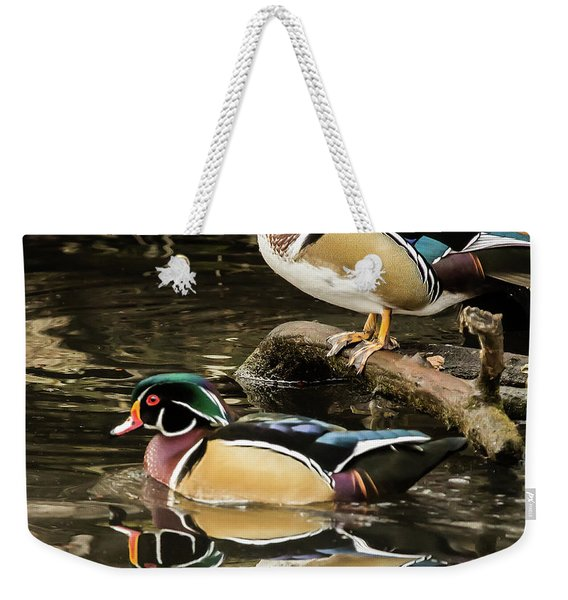 Reflections Of You And Me Wildlife Art By Kaylyn Franks Weekender Tote Bag