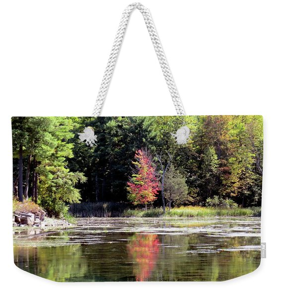 Reflections On The Rift Weekender Tote Bag