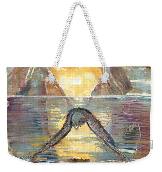 Reflections Swallowed Weekender Tote Bag