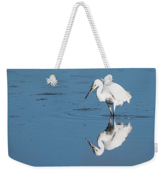 Reflections White Egret Weekender Tote Bag