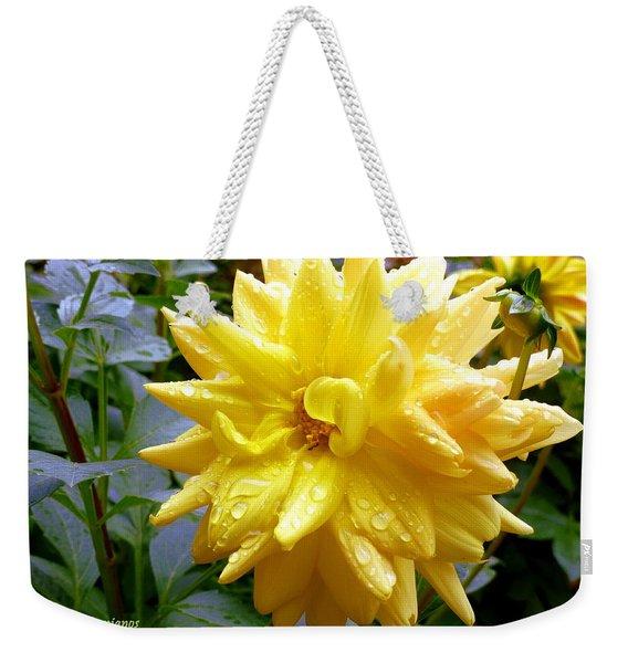 Refreshed Dahlia  Weekender Tote Bag