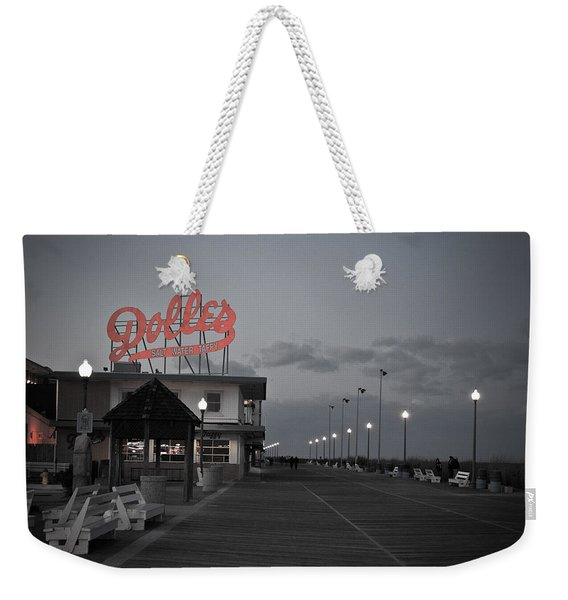 Rehoboth Beach Boardwalk Weekender Tote Bag