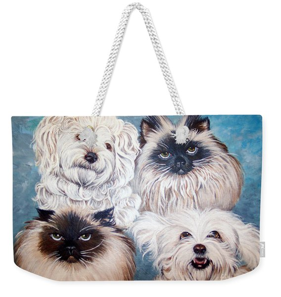 Reigning Cats N Dogs Weekender Tote Bag
