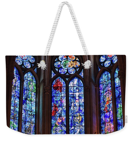 Reims, France, Cathedral, Marc Chagall Stained Glass Windows Weekender Tote Bag