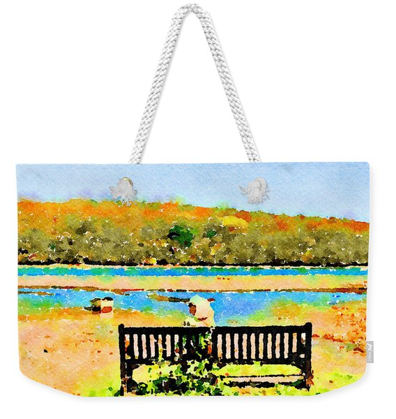 Relax Down By The River Weekender Tote Bag
