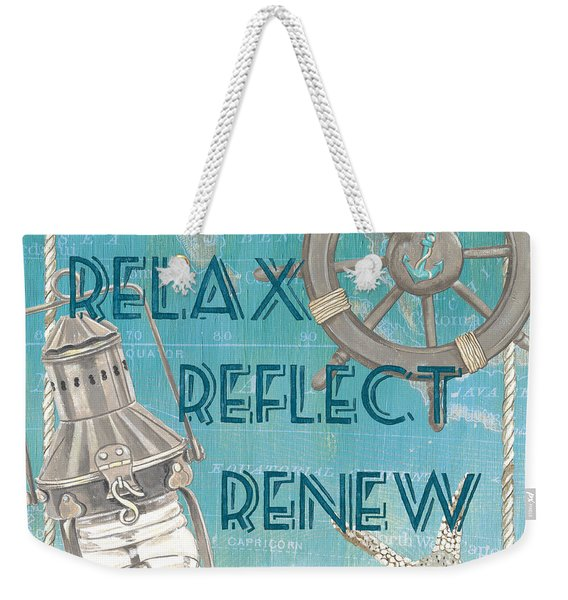 Relax Reflect Renew Weekender Tote Bag
