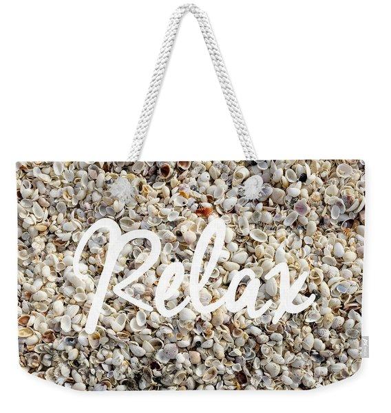 Relax Seashell Background Weekender Tote Bag
