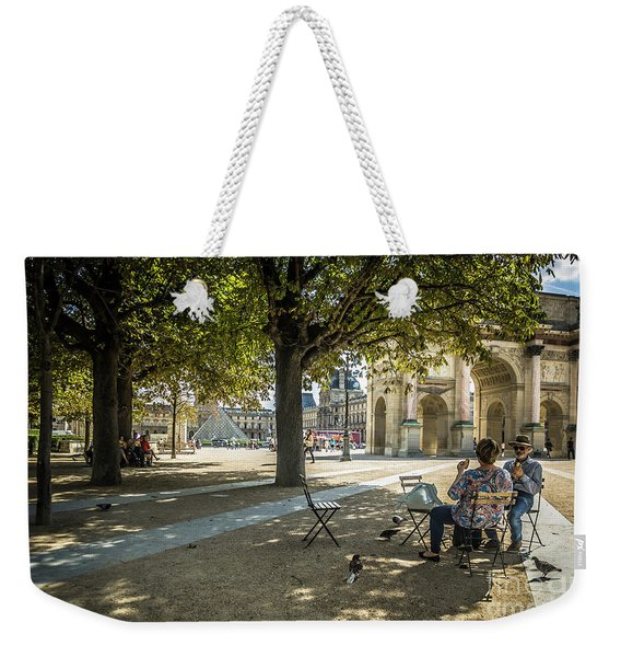 Relaxing Afternoon In Paris Weekender Tote Bag