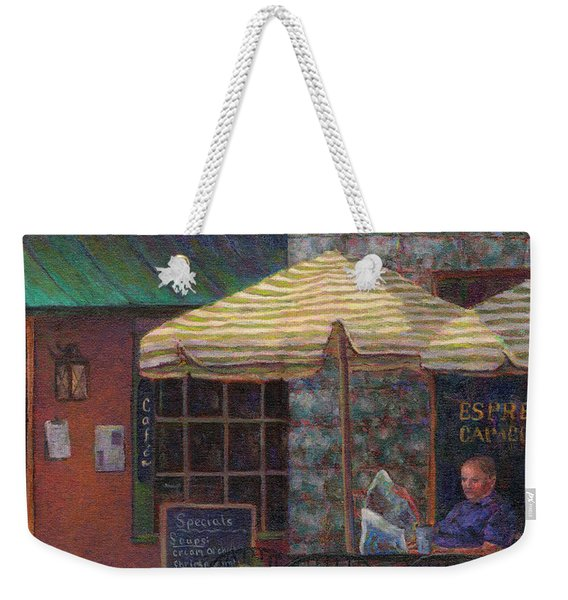 Relaxing At The Cafe Weekender Tote Bag