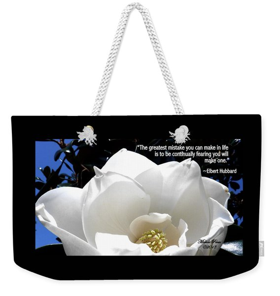 Relief 2, With Quote.  Weekender Tote Bag