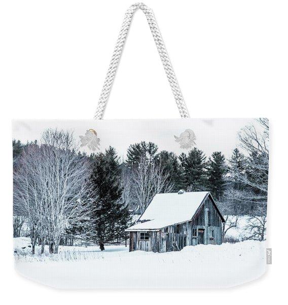 Remote Cabin In Winter Weekender Tote Bag