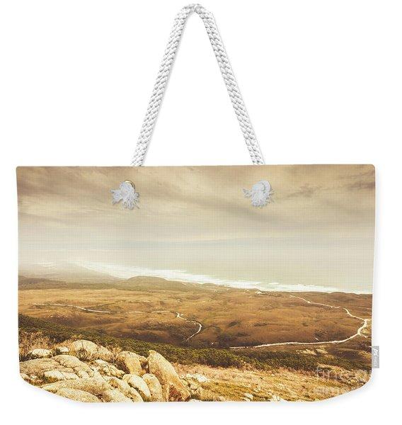 Remote Roads And Foggy Coastlines Weekender Tote Bag