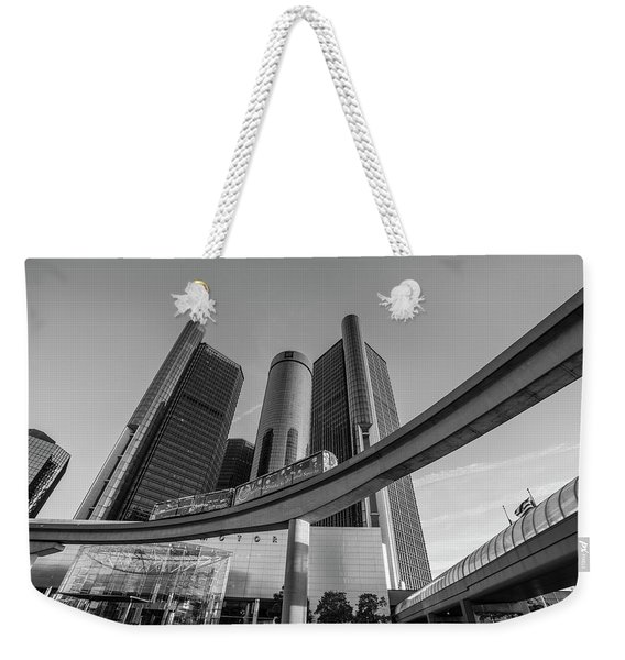 Renaissance Center And People Mover Weekender Tote Bag