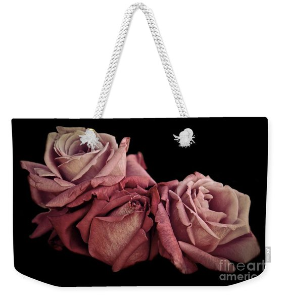 Weekender Tote Bag featuring the photograph Renaissance Roses by Patricia Strand