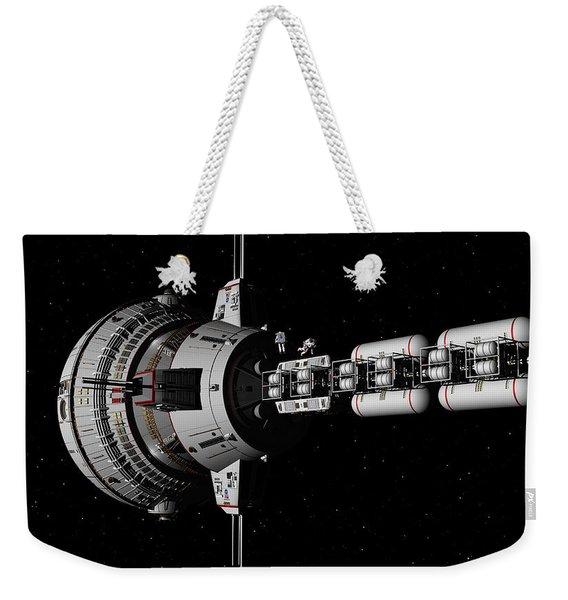 Repairs In Space Weekender Tote Bag