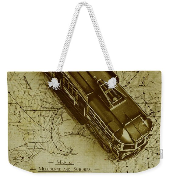 Replicating Past Tram Transit Weekender Tote Bag