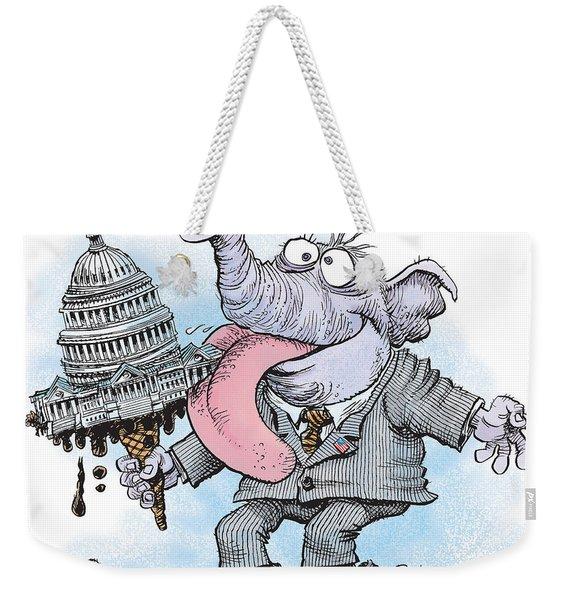 Republicans Lick Congress Weekender Tote Bag