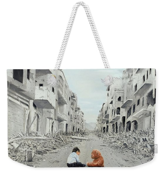 Weekender Tote Bag featuring the painting Resilience by Kevin Daly