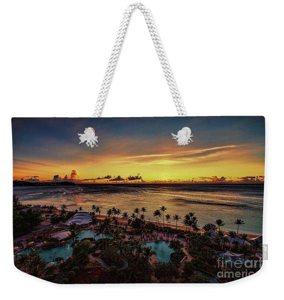 Resort Sunset Weekender Tote Bag