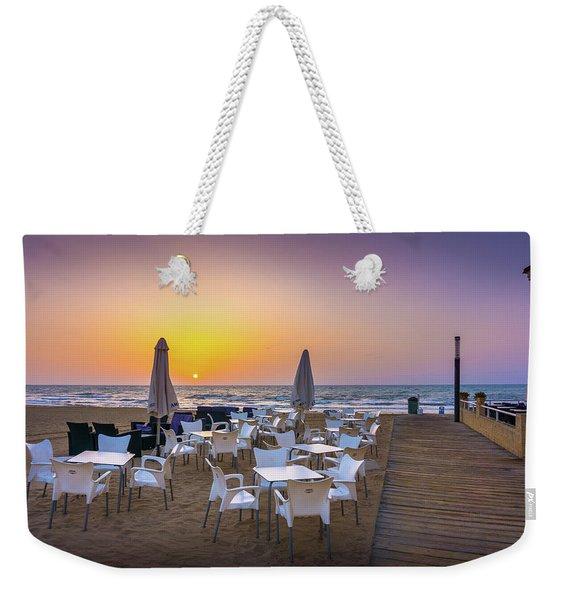 Restaurant Sunrise, Spain. Weekender Tote Bag