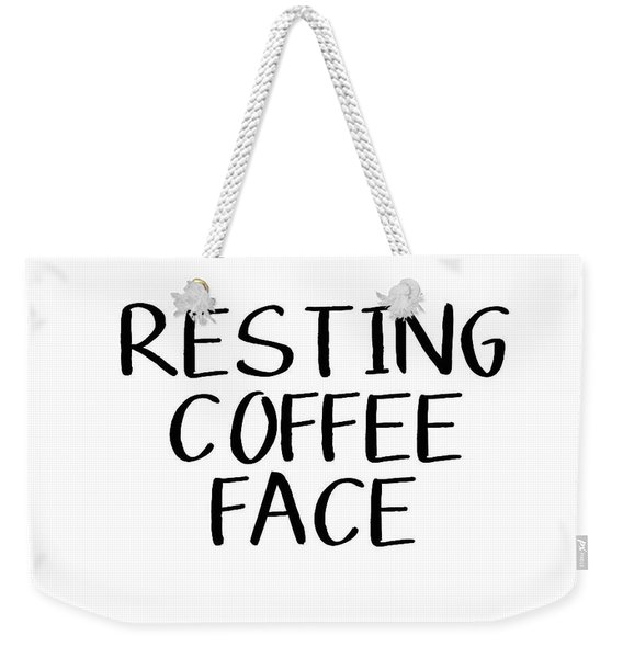 Resting Coffee Face-art By Linda Woods Weekender Tote Bag