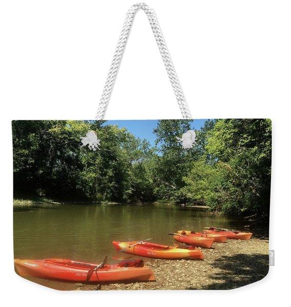 Resting Kayaks Weekender Tote Bag