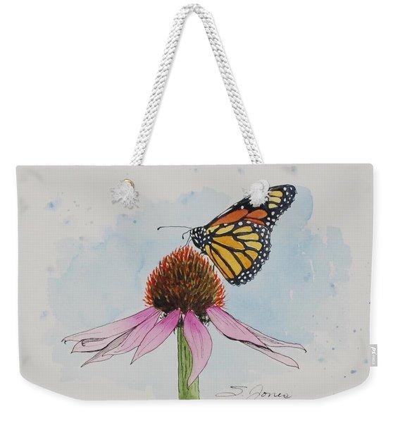 Resting Monarch Weekender Tote Bag