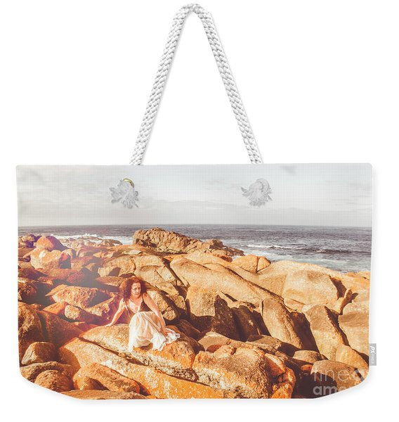 Resting On A Cliff Near The Ocean Weekender Tote Bag