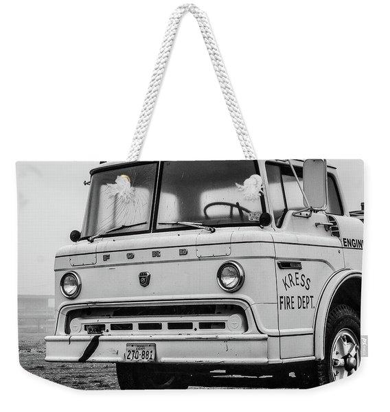 Retired Fire Truck Weekender Tote Bag