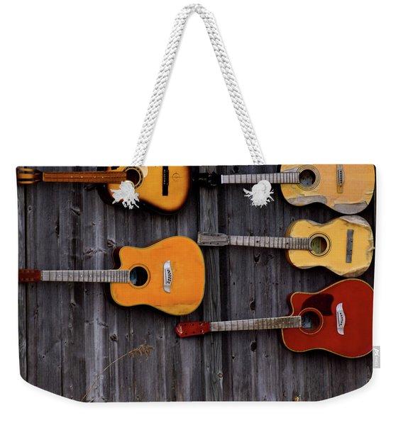 Retired Guitars  Weekender Tote Bag