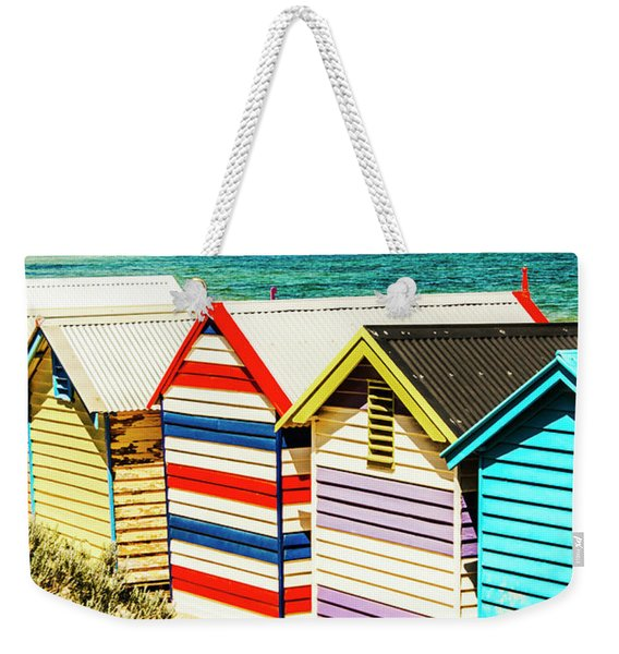 Retro Beach Boxes Weekender Tote Bag