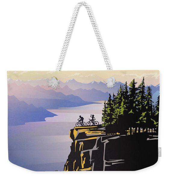 Retro Beautiful Bc Travel Poster Weekender Tote Bag