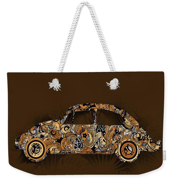 Retro Beetle Car 6 Weekender Tote Bag