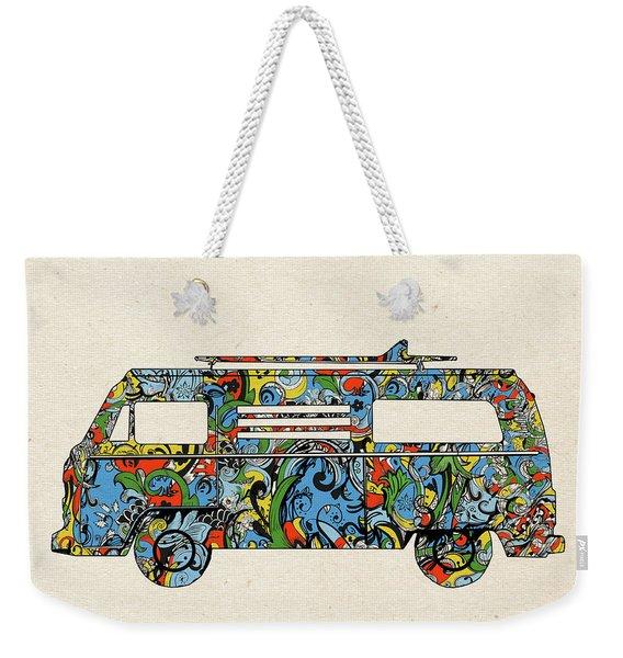 Retro Camper Van Weekender Tote Bag