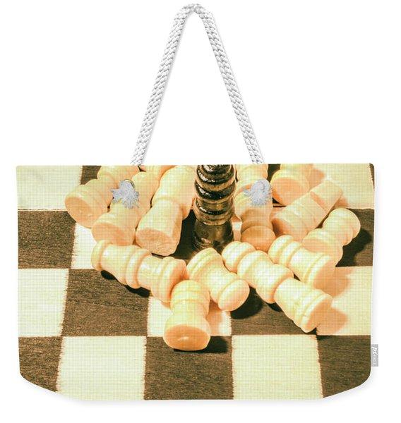 Retro Chess Battles Weekender Tote Bag