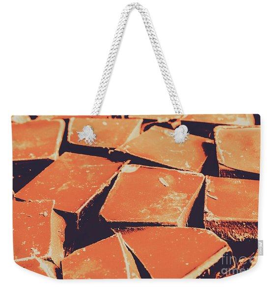Retro Chocolate Squares Weekender Tote Bag