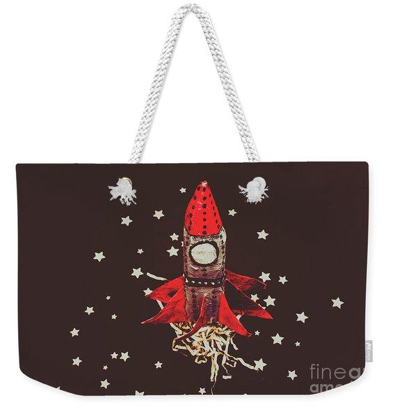 Retro Cosmic Adventure Weekender Tote Bag