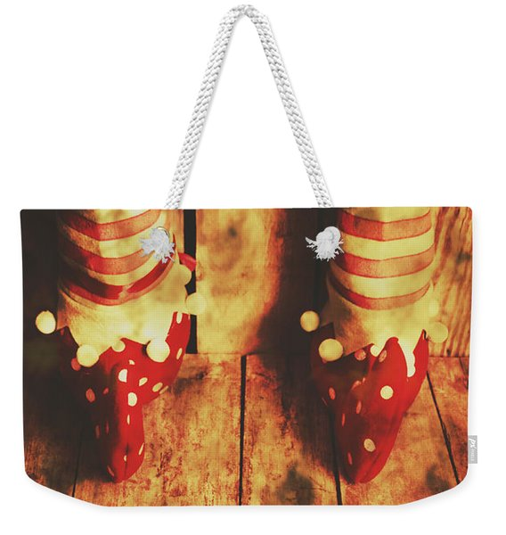 Retro Elf Toes Weekender Tote Bag
