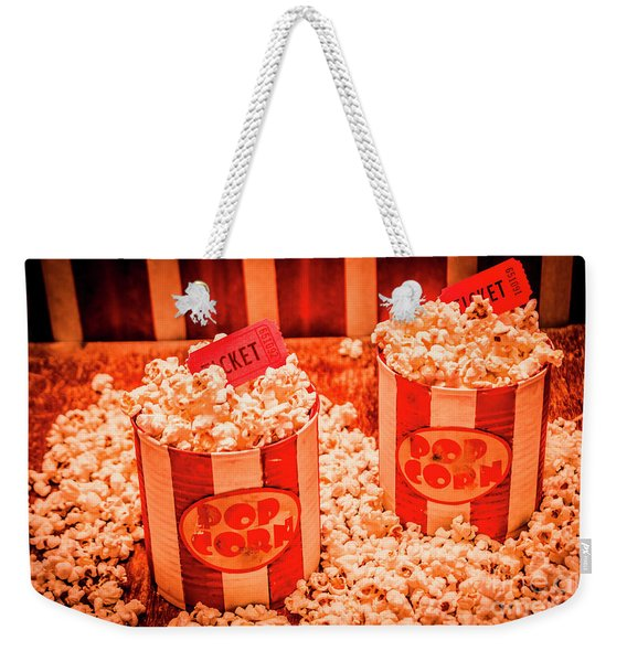 Retro Film And Entertainment Scene Weekender Tote Bag