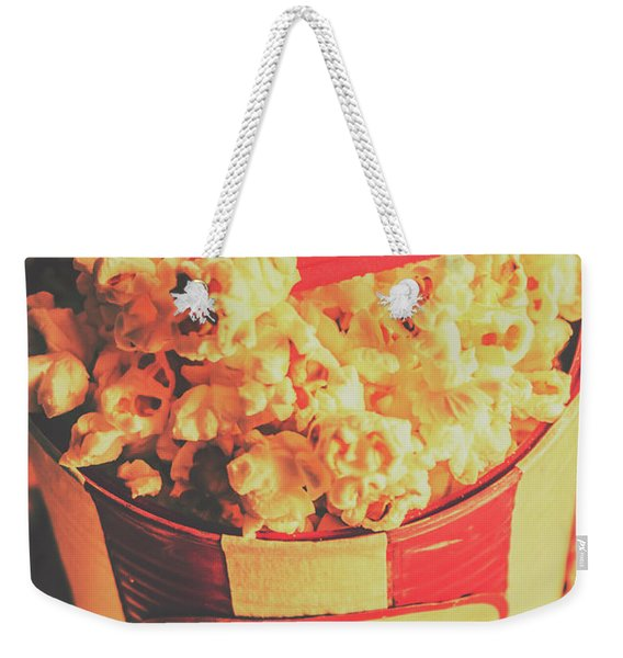 Retro Film Stub And Movie Popcorn Weekender Tote Bag