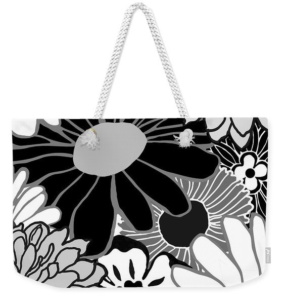 Retro Flowers Weekender Tote Bag