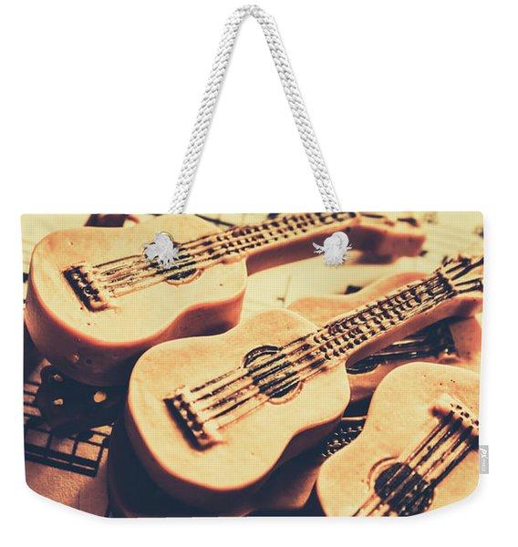Retro Folk And Blues Weekender Tote Bag